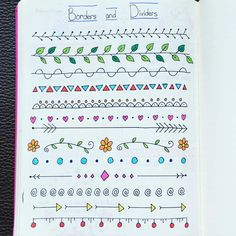 Jan 2019 - Doodles and organization ideas for bullet journals. See more ideas about Journal, Bullet journal and Bullet journal inspiration. My Journal, Bullet Journal Inspiration, Journal Pages, Bullet Journals, Borders Bullet Journal, Bullet Journal Dividers, Bullet Journal First Page, Bullet Journal Ideas Handwriting, Notes Handwriting