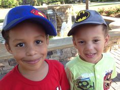 Richie and Christian, my lil super heros