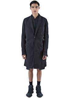 RICK OWENS DRKSHDW Men'S Pharmacy Long Tactile Coat In Black. #rickowensdrkshdw #cloth #
