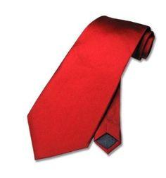 100% SILK Solid Rose RED Neck Tie. Men's NeckTie..