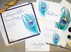 pinterest peacock invitation - Google Search