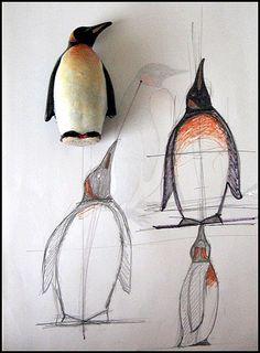 Penguin drawing tutorial.