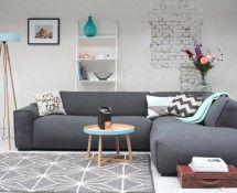 Cartel Living Durban hoekbank donker grijs - Woonkamer LevaLeva ...
