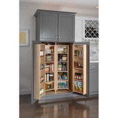 Kitchen Pantry Design, Kitchen Pantry Cabinets, Kitchen Storage, Kitchen Decor, Small Pantry Cabinet, Kitchen With Pantry, Wall Pantry, Pantry Cupboard, Tall Cabinet Storage