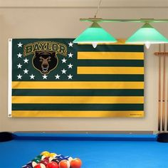 Baylor Bears stars and stripes flag // Can totally see this in a Baylor dorm.