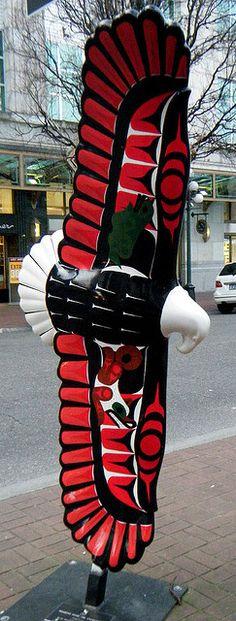 First Nations eagle statue by joybidge, via Flickr. #artwork #streetart #publicart #nativeamericanart http://www.pinterest.com/TheHitman14/art-of-the-streets/
