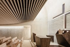 Image 3 of 14 from gallery of Roser Chapel   / Erithacus arquitectos + Guillermo Maluenda. Photograph by Joan Guillamat