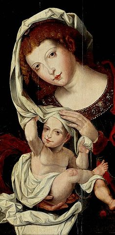 Jan Gossaert Gennant Mabuse, Madonna and child (early 16th century)