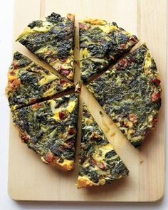 Spinach, Onion, and Bacon Frittata Recipe - this versatile recipe can be made with a variety of ingredients