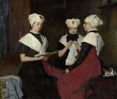 Three Girls from the Amsterdam Orphanage (1885). Thérèse Schwartze (Dutch, 1851–1918). Oil on canvas. Rijksmuseum, Amsterdam.