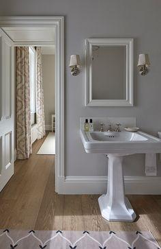 Victorian vicarage with landscaped gardens and a Scandinavian scheme Scandinavian, Sink, Victorian, Flooring, Mirror, Bathrooms, Interior, Furniture, Bathroom Ideas