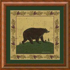 Warren Kimble 'Folk Bear' Framed Art Print - Overstock™ Shopping ...