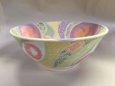 Lynda-anne Raubenheimer porcelain bowl underglaze design experimental new technique curious to so see the result once fired and this combination of underglaze  Currently cooling in the kiln 30 August 2015