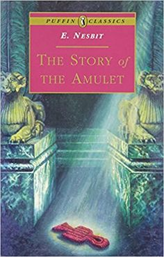 The Story of the Amulet by E. Nesbit. At the end of Five Children and It the five children promised not to ask the Psammead for another wish as long as they lived, but expressed a half wish to see it again some time. They find 'it' again in a pet shop in Camden Town, and their magic adventures start over again. 16. March 2018.