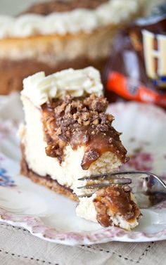 Caramel Toffee Crunch Cheesecake Recipe