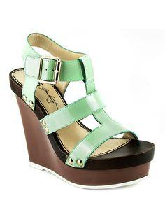 Mint & Brown Graciela Leather Ankle-Strap Wedge #zulily #zulilyfinds