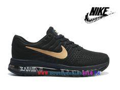 finest selection 95d78 42f4e Nike Air Max 2017 Vintage Bonne Ligne de production Homme Noir   Or  918091-991