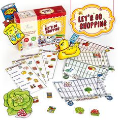 Let's Go Shopping game - be the first to find all the items on your shopping list. Fun for ages 3 to Shopping Games, Go Shopping, Christmas Presents, Christmas Cards, Christmas Decorations, Orchard Toys, Stationery Companies, Make Pictures, Gaming
