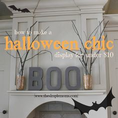 how to make a halloween mantle display for under $10