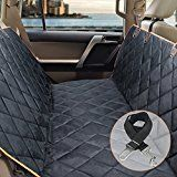 #9: Dog Car Seat Cover F-color Waterproof Pet Seat Cover Dog Hammock for Car SUV Truck Automotive Backseat Dog Cover Car Bench Seat Protector with A Pet Seat Belt Seat Belt Opening NonSlip Black