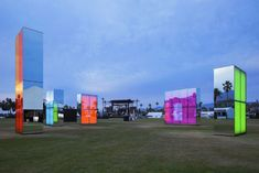 set within the mountainous landscape of indio, california, american artist phillip k. smith III has situated 'reflection field' -- his largest light installation to date -- at the 2014 coachella music festival Light Installation, Art Installations, Grid Design, Environmental Design, Experiential, Color Theory, Light Art, Public Art, American Artists