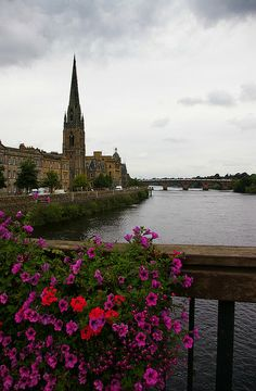 Perth, Scotland. Stop over in perth to catch another bus heading further into the highlands.