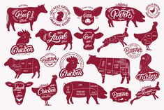 Big Butchery Set by Letters-Shmetters on @creativemarket