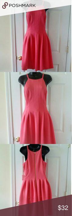"Calvin Klein pink sleeveless empire waist dress 8 19"" armpit to armpit 39"" length Calvin Klein Dresses"