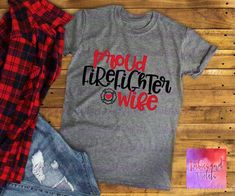 Firefighter Wife Shirt/Proud Firefighter Wife with Maltese Cross/Heart Ladies Shirt/Firefighter Wife Glitter Shirt/Firefighter Wife Gift - Wify Shirt - Ideas of Wify Shirt - Firefighter Apparel, Firefighter Family, Firefighter Decor, Firefighters Wife, Firefighter Workout, Firefighter Wedding, Mrs Shirt, Cross Shirts, Glitter Shirt