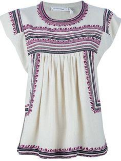 Clothing - Isabel Marant Étoile Dumas Embroidered Top - Tessabit.com – Luxury Fashion For Men and Women: Shipping Worldwide