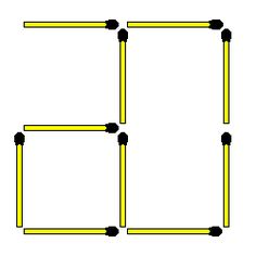Matchstick Puzzles: 358. Move 1 to create 3 squares