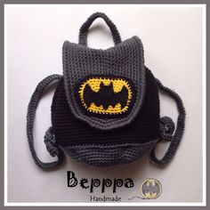 Knitting Bags Models 7 Best Picture For Crochet Pattern for kids boys For Your Taste You are looking for something, and it is going to. Crochet Purses, Crochet Toys, Knit Crochet, Crochet Baby Boots, Crochet For Boys, Batman Bag, Crochet Batman, Mochila Crochet, Crochet Backpack