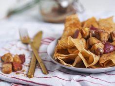 Pfannkuchen ohne Ei, vegan und süß - Applethree - Food   Travel   Life Superfood, Nutella, Vegan, Chicken, No Egg Pancakes, Sweet Recipes, Cinnamon, Raspberries, Glutenfree