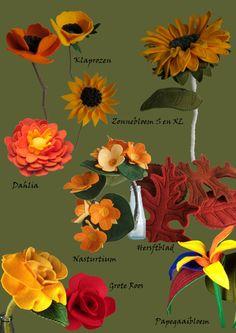Kings day the Netherlands. Orange felt flowers