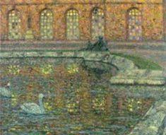Henri Le SIDANER - Reflections of the windows at Versailles  [Yvelines, Île-de-France]