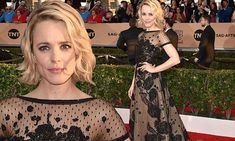 Rachel McAdams steals the 'Spotlight' in embellished black gown as her film wins Outstanding Performance By A Cast at SAG Awards. Rachel McAdams is not new to the red carpet but she had an extra sparkle this time around. The 37-year-old actress both sexy and dramatic as she showed up to the 2016 Screen Actors Guild Awards at the Shrine Auditorium in Los Angeles on Saturday.