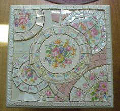 """When most people hear the term """"pique assiette mosaic"""" they automatically think of a mosaic created from broken china. I'd like clarify thi. Mosaic Crafts, Mosaic Projects, Mosaic Art, Mosaic Glass, Mosaic Tiles, Art Projects, Tiling, Stained Glass, Project Ideas"""