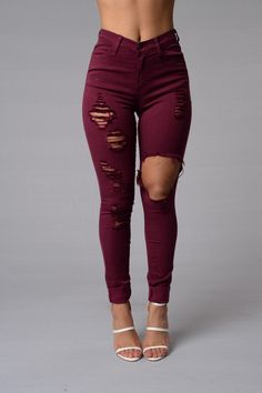 Glistening Jeans - Burgundy                                                                                                                                                                                 More