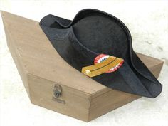1871-1940 French Navy Officer Bicorn Cocked Hat
