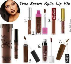 Dupes True Brown Kylie Lip Kit