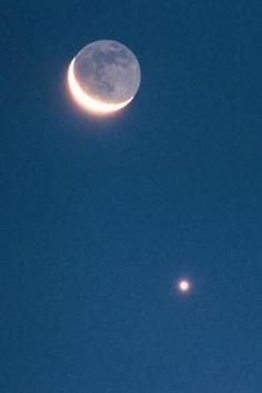 Moon and North Star.