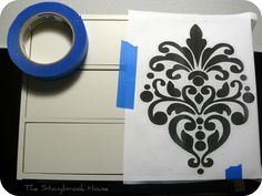 The Stonybrook House: Damask Stencil ~ Awesomeness!!