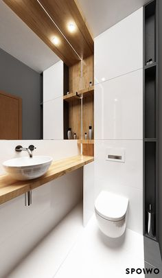 small bathroom / www.spoiwostudio.pl