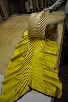 Pleating - fabric manipulation - Paris in the Fall, an artist's tale…