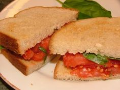 Lunch – Terrific Toasted Tomato Sandwich