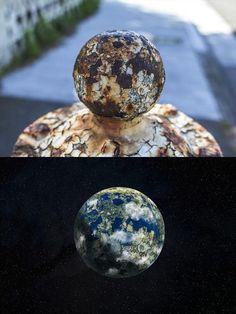 Photographer takes a rusty fire hydrant and turns it into planets, pretty cool :)