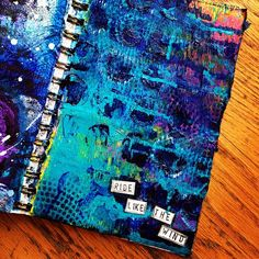 Art journal inspiration: mixed media art journal page by Dianne Packerdi http://countrylifemom.blogspot.com