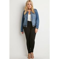 Forever 21 Plus Classic High-Waisted Skinny Jeans (320 ZAR) ❤ liked on Polyvore