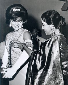 First Lady Jacqueline Kennedy at Embassy in New Delhi India New 8x10 Photo