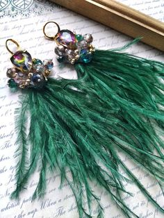 Long Tassel Earrings, Fringe Earrings, Feather Earrings, Boho Necklace, Etsy Earrings, Beaded Earrings, Earrings Handmade, Trendy Accessories, Bridal Accessories